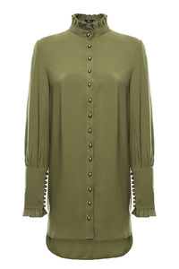 Green Military Top