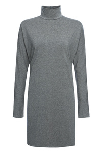 Marl Grey Turtle Neck Top