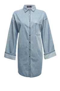 Wide Sleeve Denim Shirt