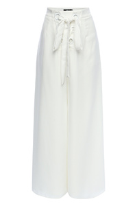 Audrey White Eyelet Wide Leg Pants