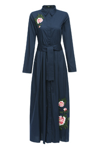 Wild Flower Denim Dress