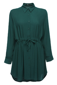 Emerald Collar Button Up