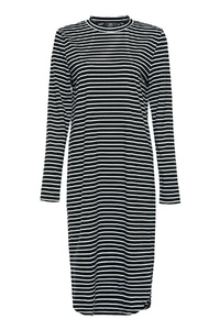 Black Striped Long Top