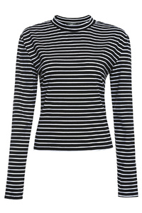 Black Striped Layer Top