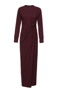 Plum Maxi Skew Dress