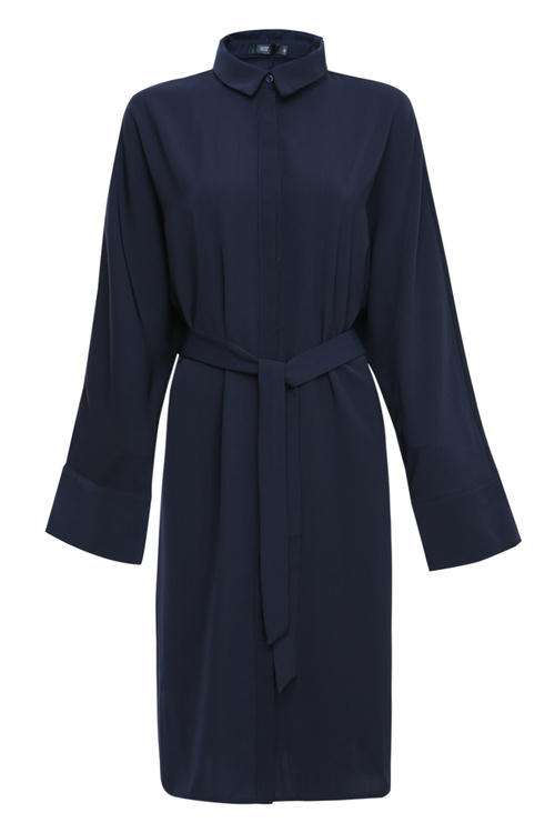 Navy Oversized Dress Shirt [Size: 6]
