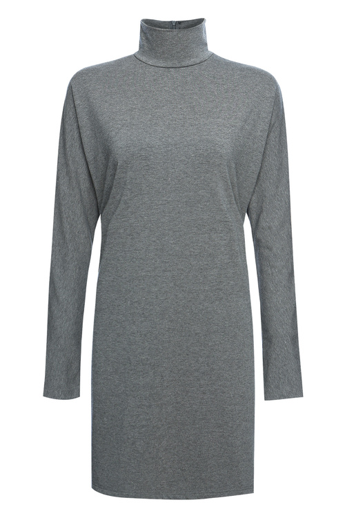 Marl Grey Turtle Neck Top [Size: 6]
