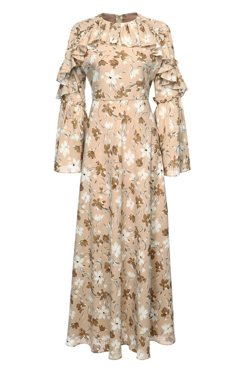Tuscany Floral Ruffle Dress [Size: 6]