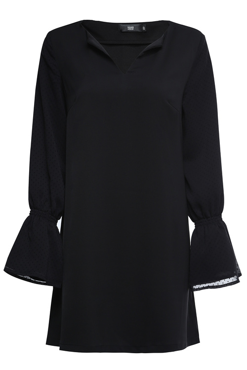 Black Polka Dot Sleeve Tunic [Size: 6]