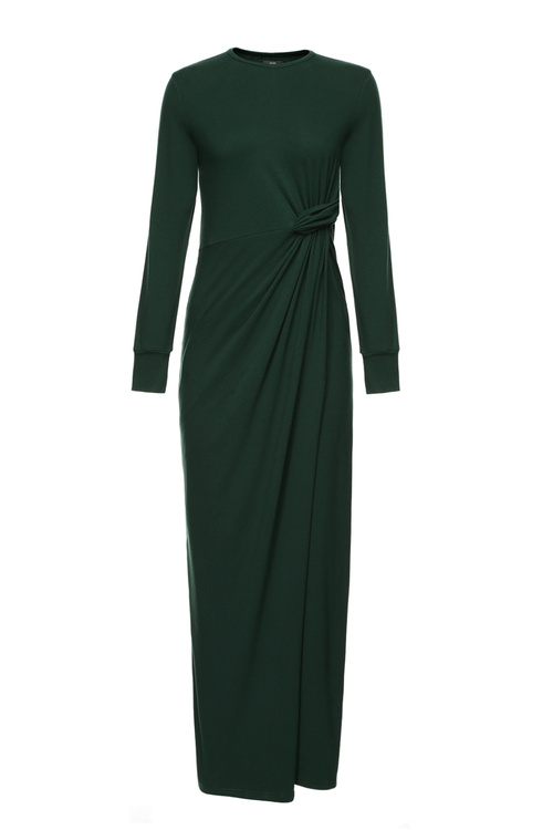 Emerald Maxi Skew Dress [Size: 6]