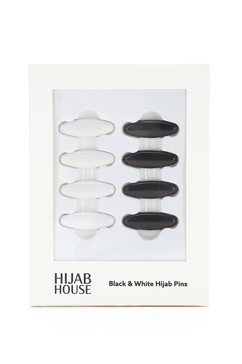 Black and White Hijab Pins