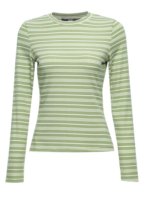 Green Striped Body Top [Size: 6]
